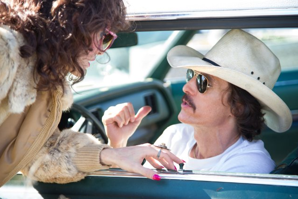 Matthew McConaughey and Jared Leto in Dallas Buyers Club.