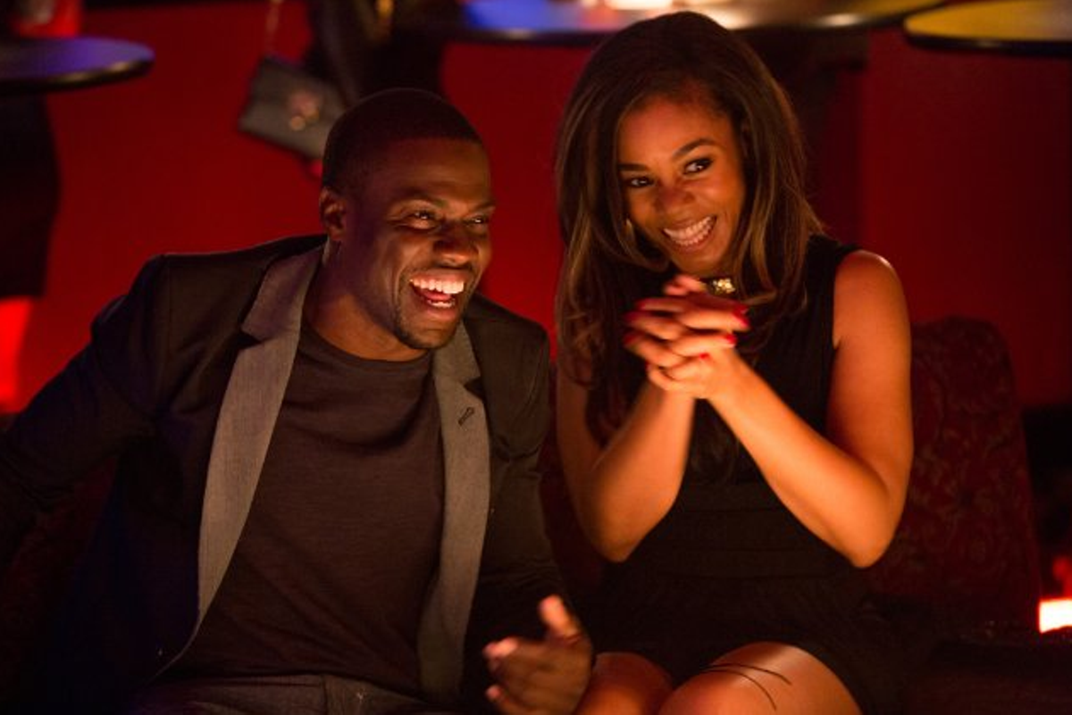 Kevin Hart and Regina Hall in About Last Night.