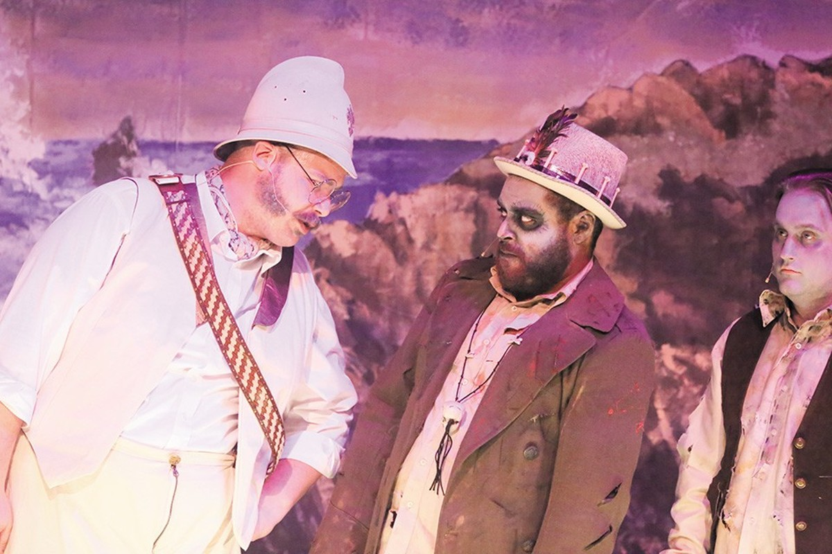 Major-General Stanley and the Zombie King (Zachary Allen Farmer and Dominic Dowdy-Windsor) discuss life and undeath.
