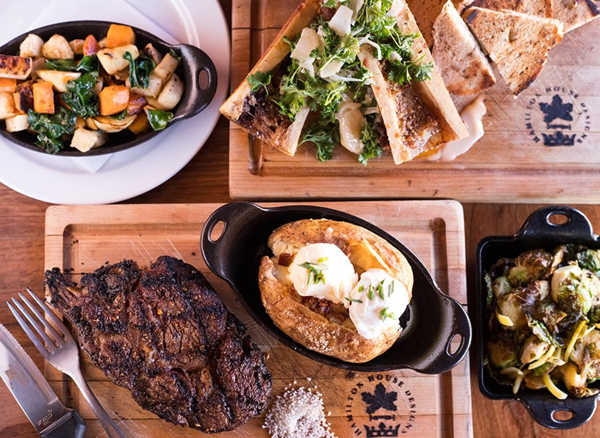 Hamilton's Urban Steakhouse & Bourbon Bar serves dry-aged beef with a host of delicious sides.