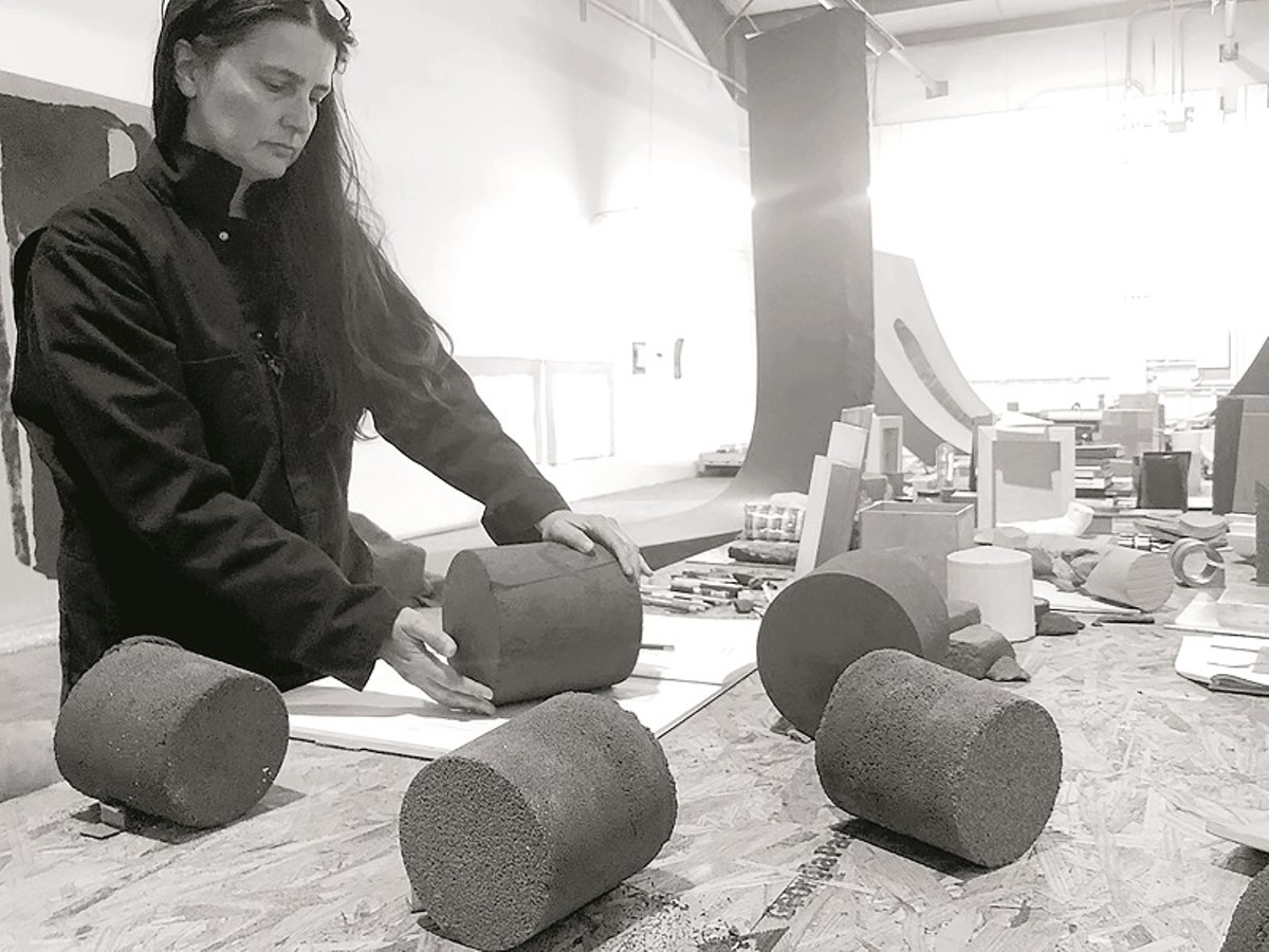 Christine Corday at work in her studio.