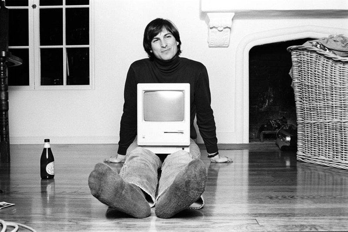 Steve Jobs, perfecting the everyman image.