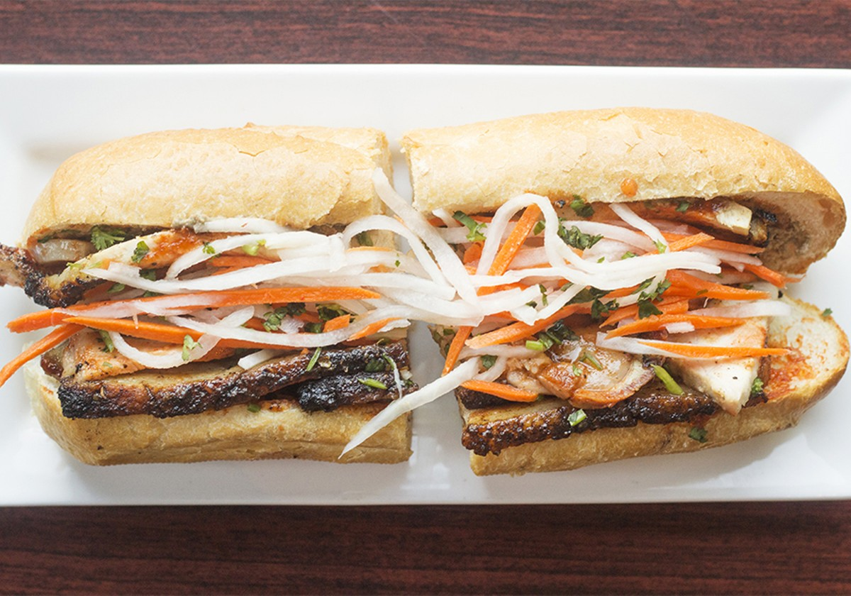 "The ""Porkapocalypse"" banh mi sandwich."