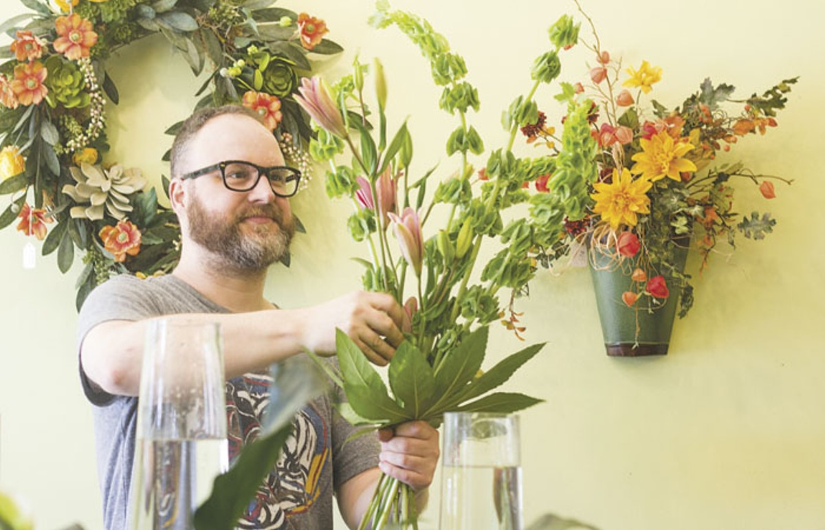 Josh Davis, lead floral designer at Botanicals, works his magic.