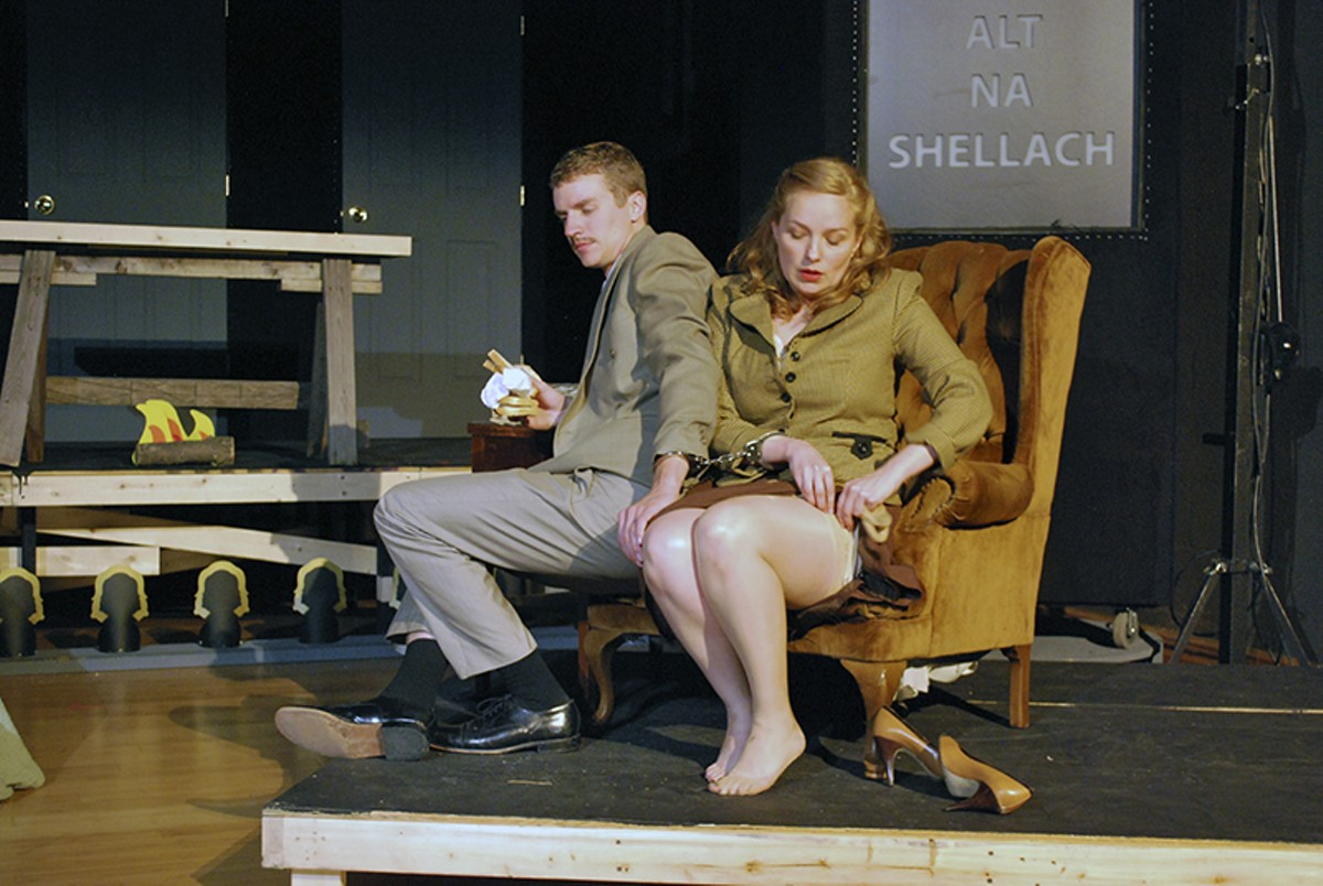 Pete Winfrey and Rachel Tibbetts in The 39 Steps.