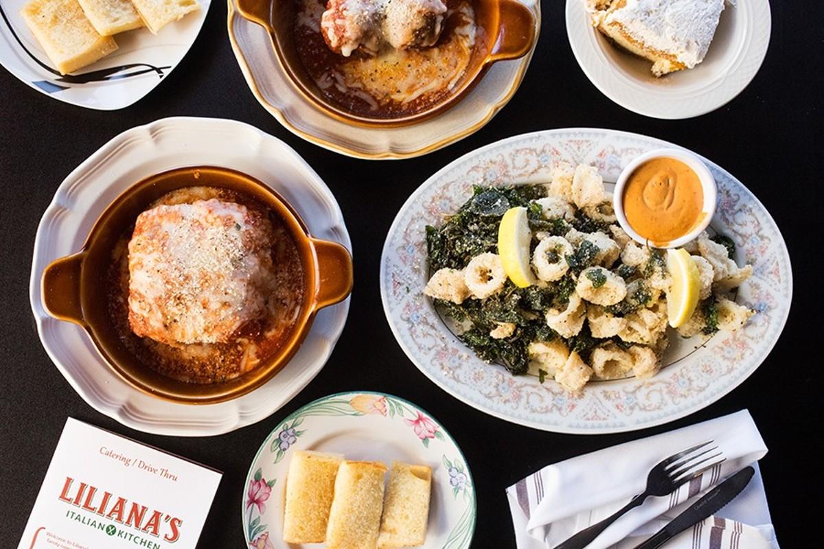 Highlights at Liliana's Italian Kitchen include meatballs, eggplant lasagna and calamari.