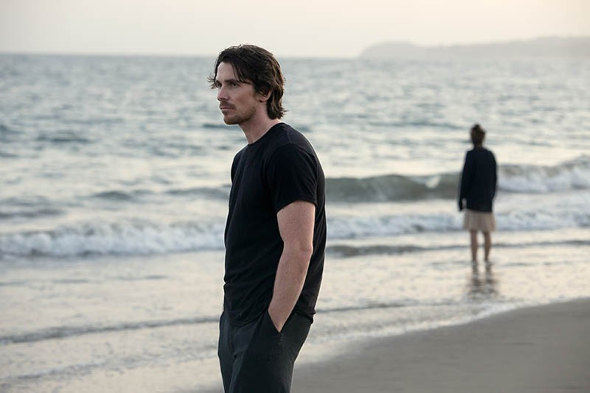 Christian Bale hits the beach -- a lot -- in Knight of Cups.