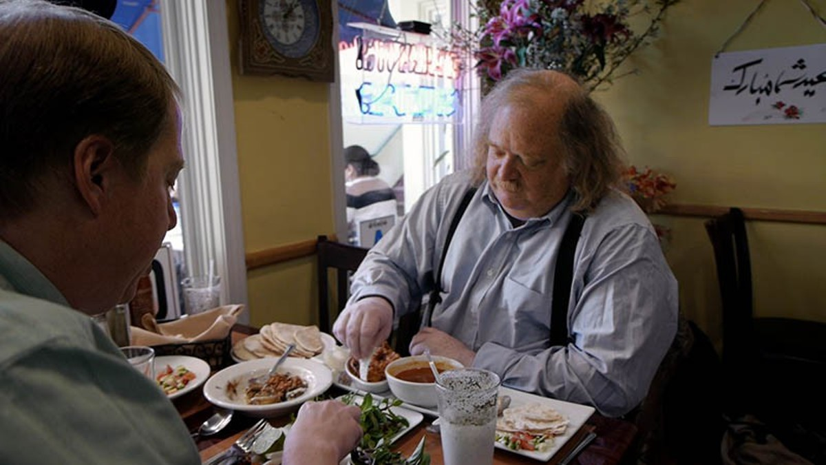 Jonathan Gold at lunch.