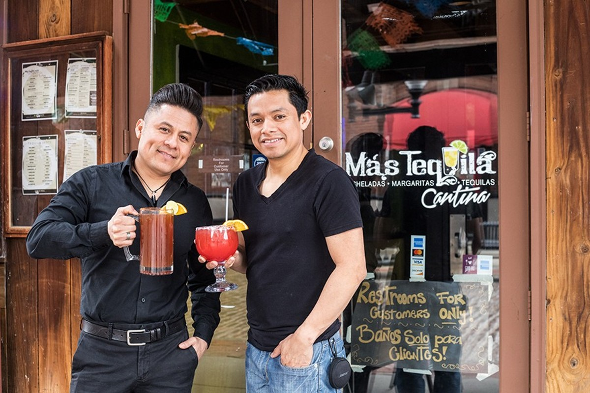 Mas Tequila Cantina co-owners Javier Geminiano and Jesus Jaimes have high hopes for the Landing.