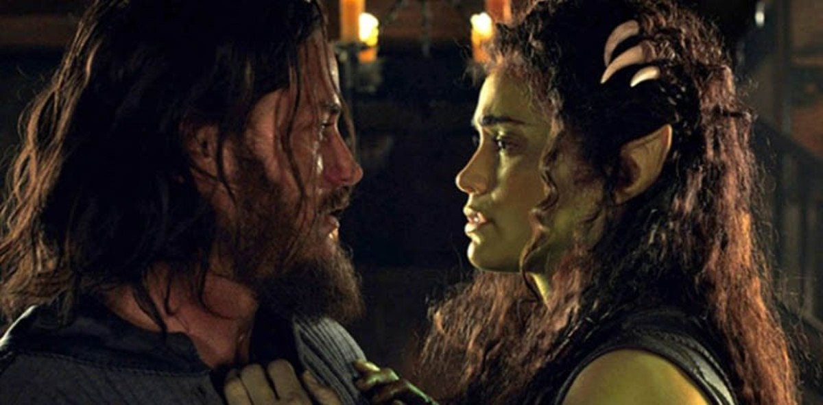 Travis Fimmel and Paula Patton in Warcraft