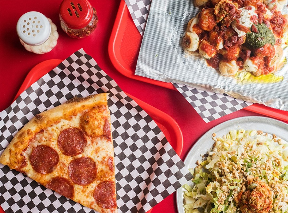 """Pie Guy Pizza's menu includes pizza """"Knotchos"""" and a great chopped salad in addition to pizza."""