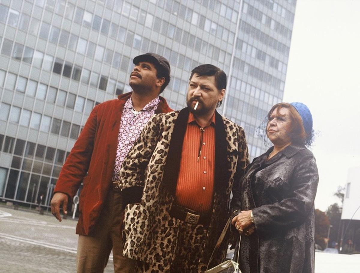 Günther Kaufmann, Rainer Werner Fassbinder and Brigitte Mira in Kamikaze 89.