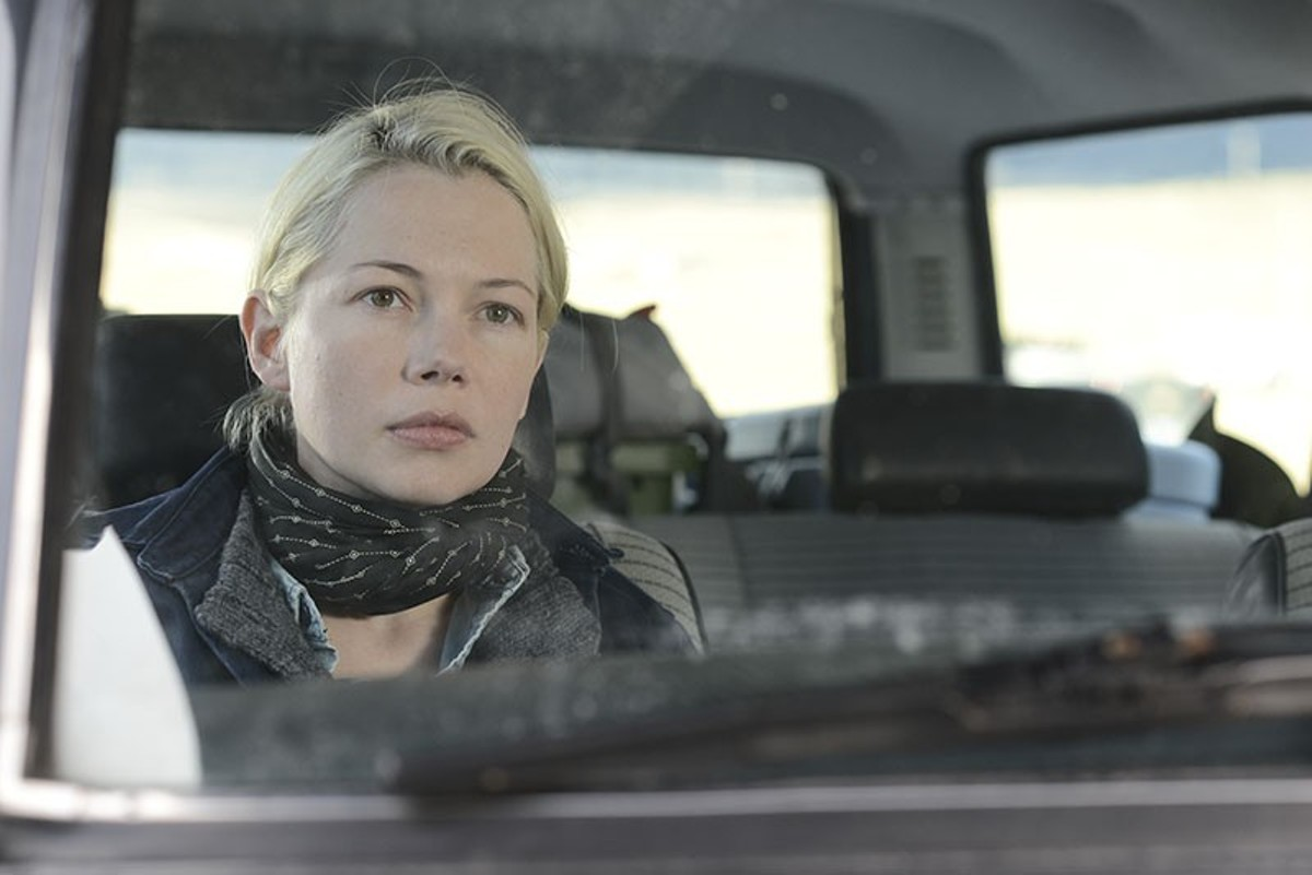 Michelle Williams as Gina Lewis from Kelly Reichardt's Certain Women.