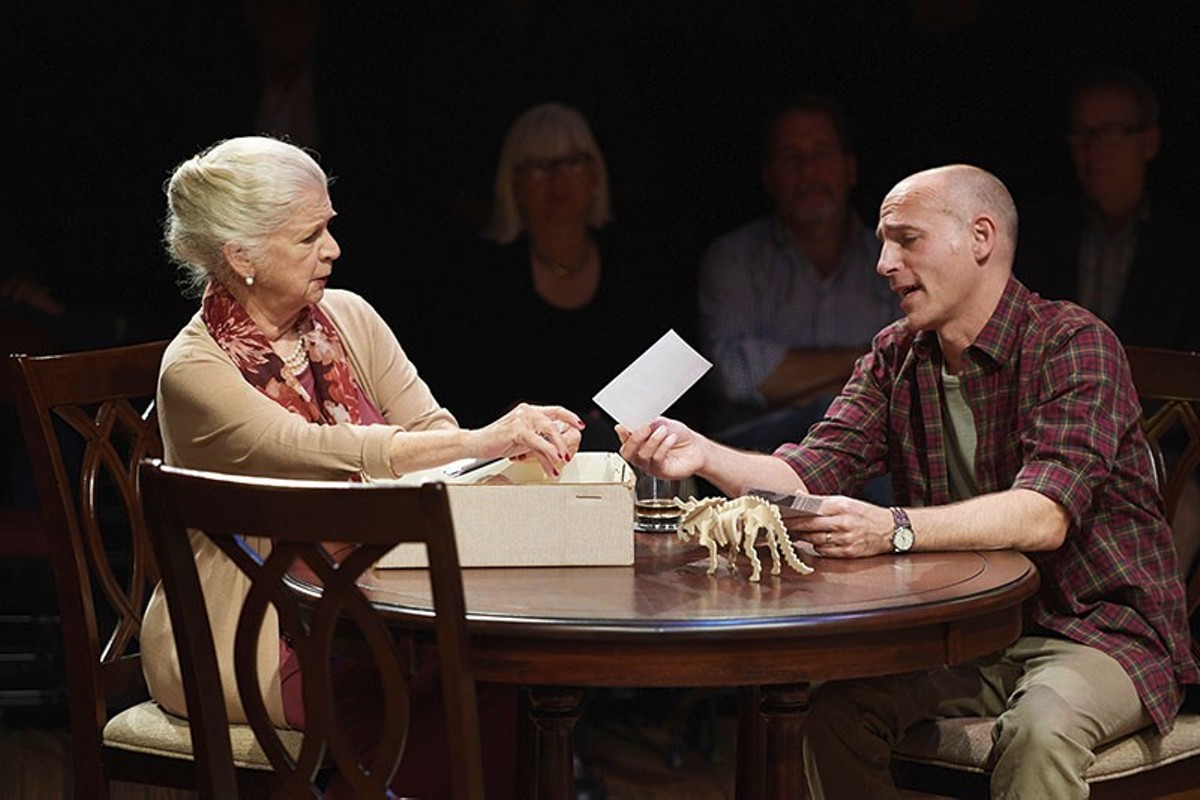 Cal (Harry Bouvy) and Katharine (Darrie Lawrence) have unfinished business.