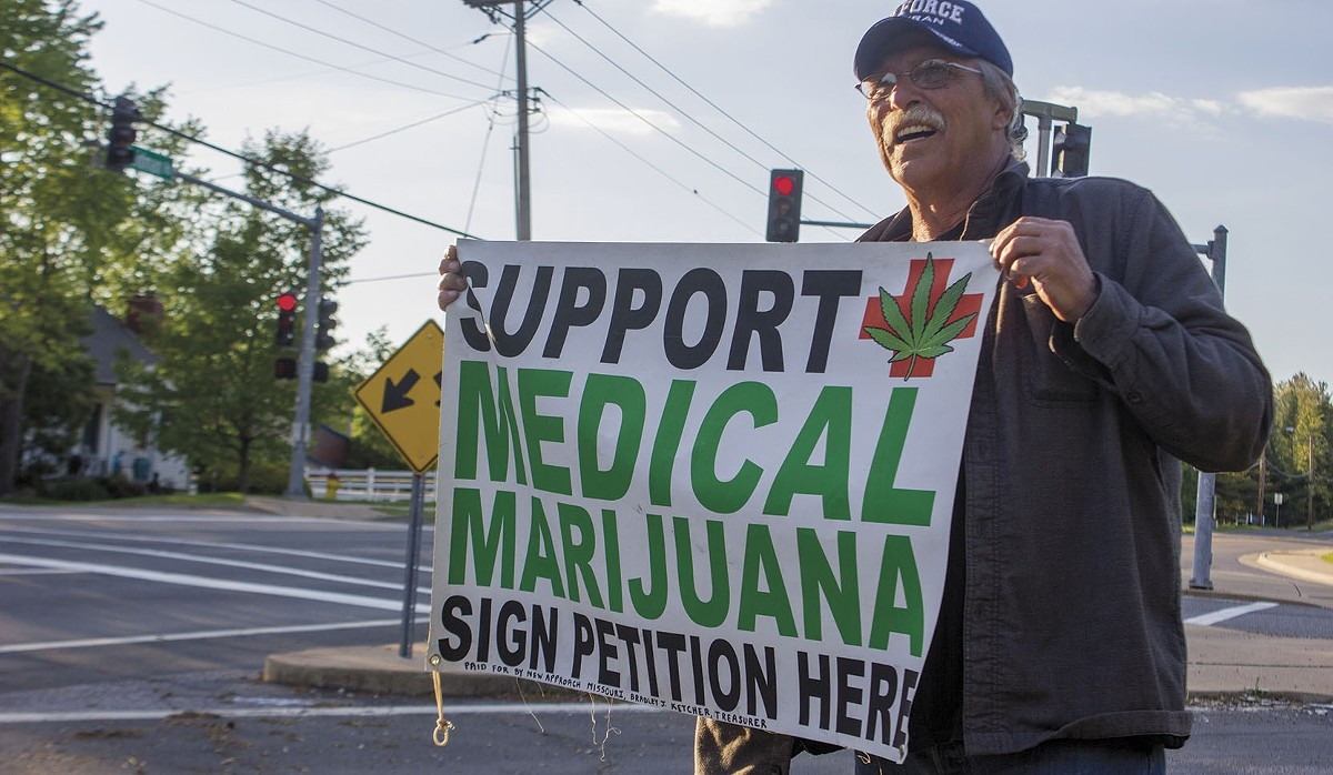 Jeff Mizanskey, who spent 22 years in prison for non-violent marijuana offenses, worked to gather signatures for Missouri's failed 2016 ballot initiative.