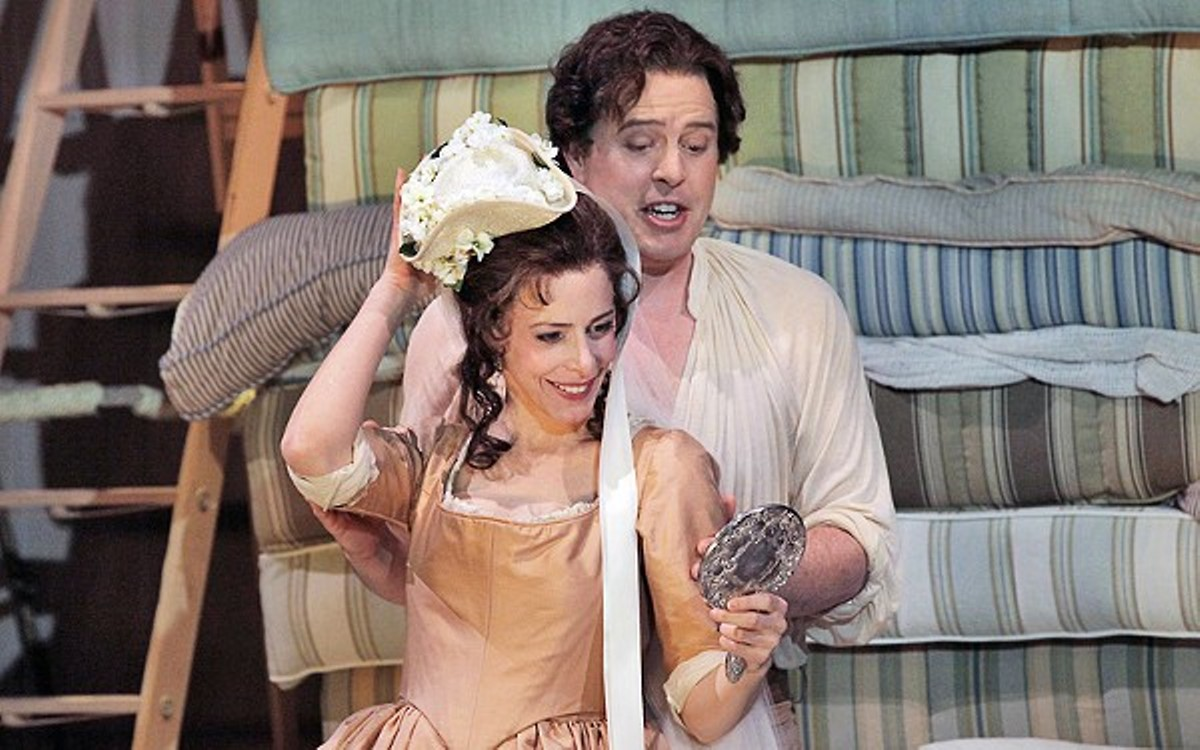 A scene from Opera Theatre St. Louis' 2010 production of The Marriage of Figaro.