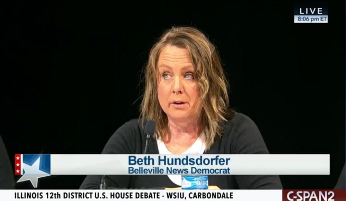 Beth Hundsdorfer, shown moderating a debate in 2018, has a reputation as a top investigative reporter.