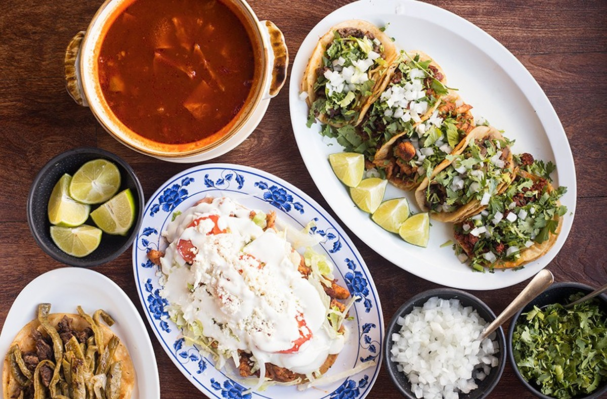 Malintzi Market's menu offers tasty Mexican favorites, including menudo, tacos, taco placero and sope with chicken.