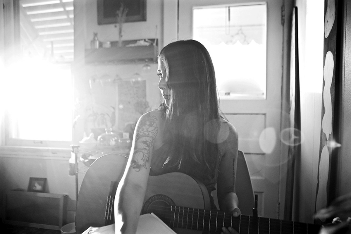 Lisa Houdei, a.k.a. Le'Ponds, is one local act who has been featured in Nate Burrell's photography.