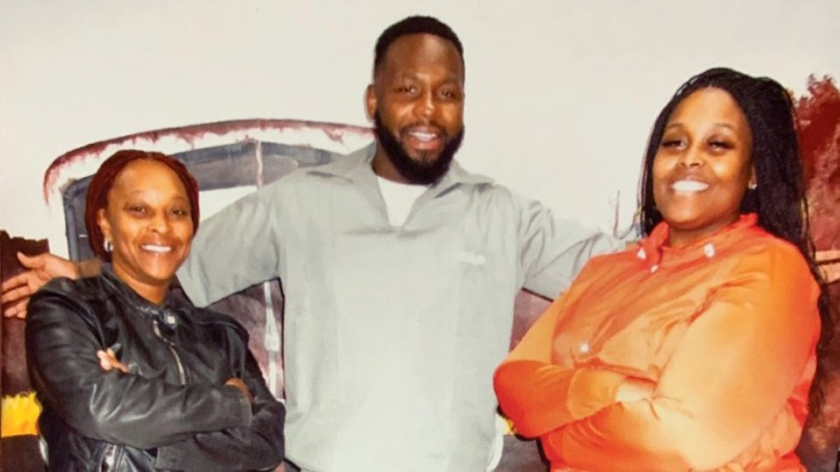 Felix Key, shown with his mother Marian Jolliff and wife Latasha Kates, is serving a 28-year prison sentence.