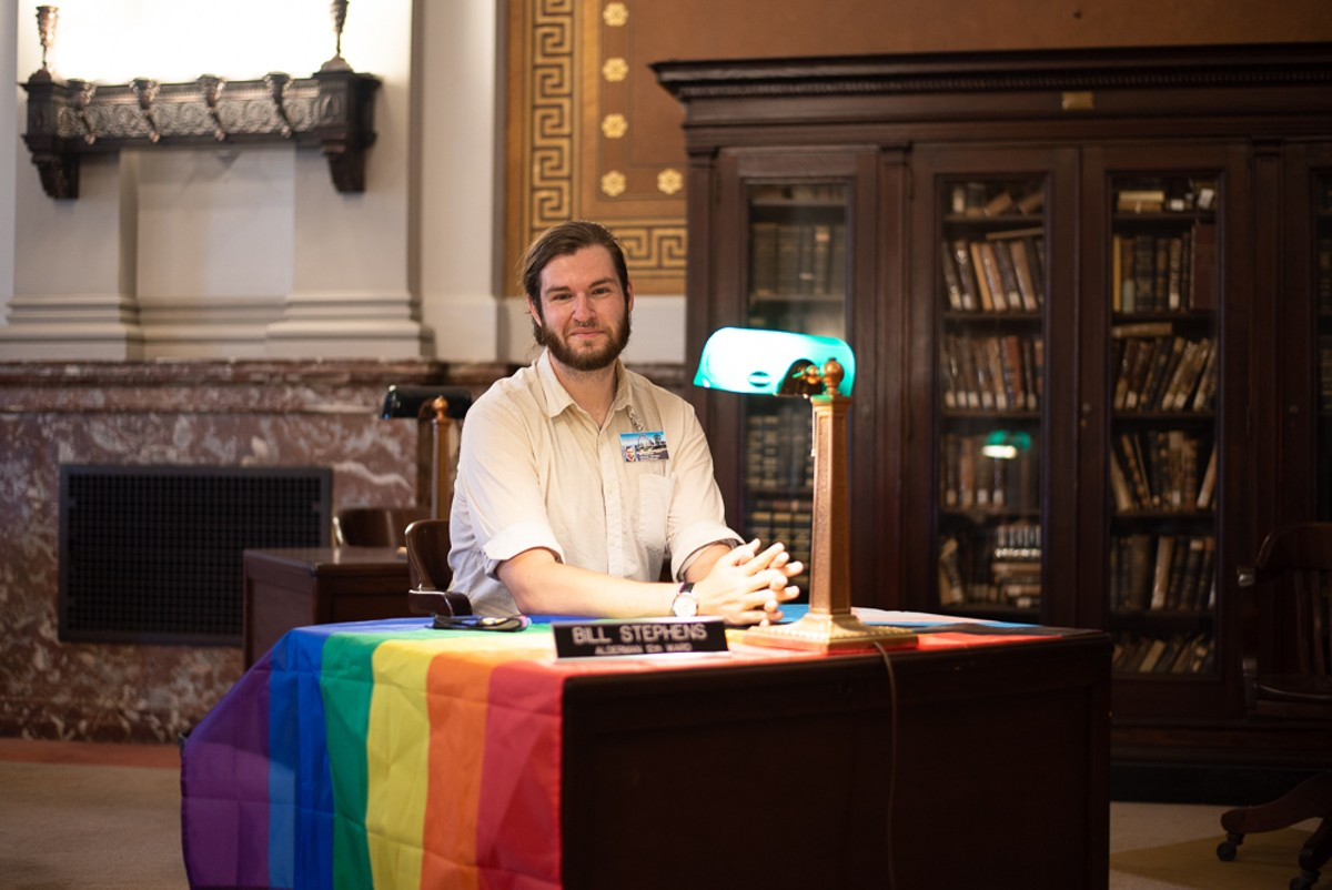 Newly elected St. Louis Alderman Bill Stephens credits the LGBTQ community with inspiring him to run for office.