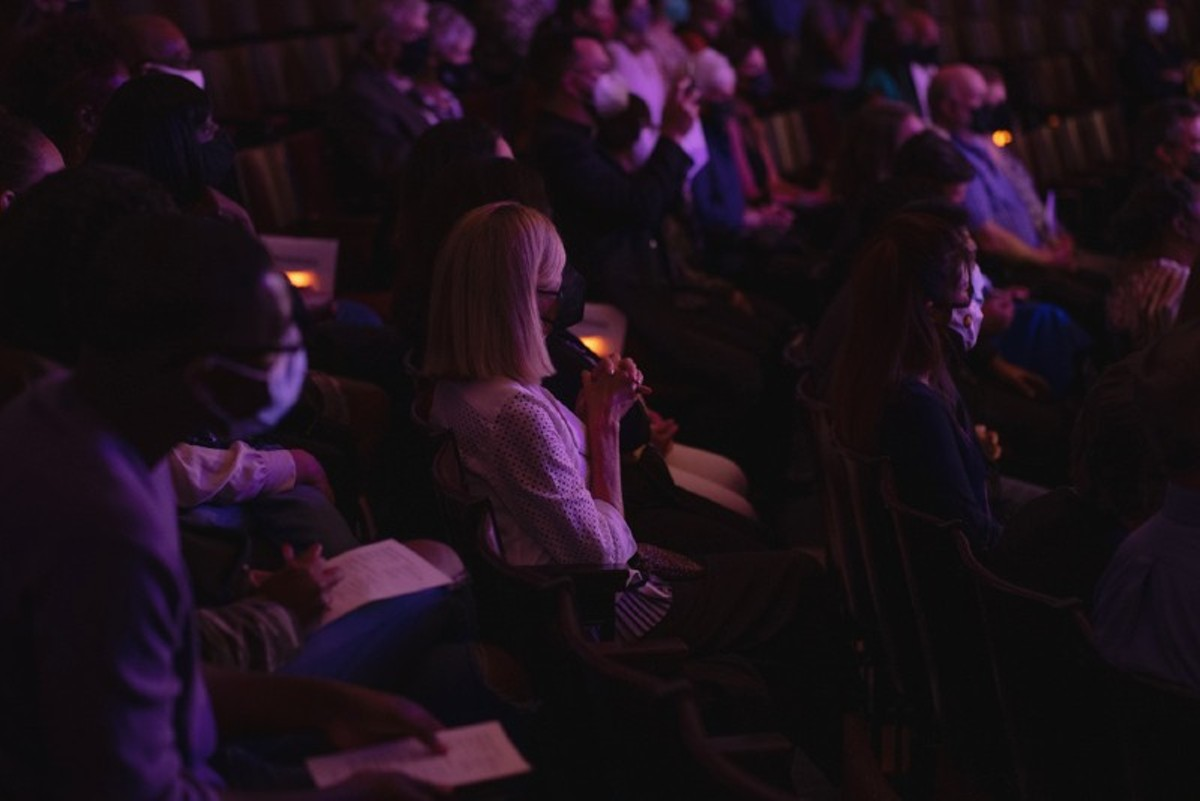 Mourners at the Requiem of Light on October 2 remember St. Louisans who've died from COVID-19.