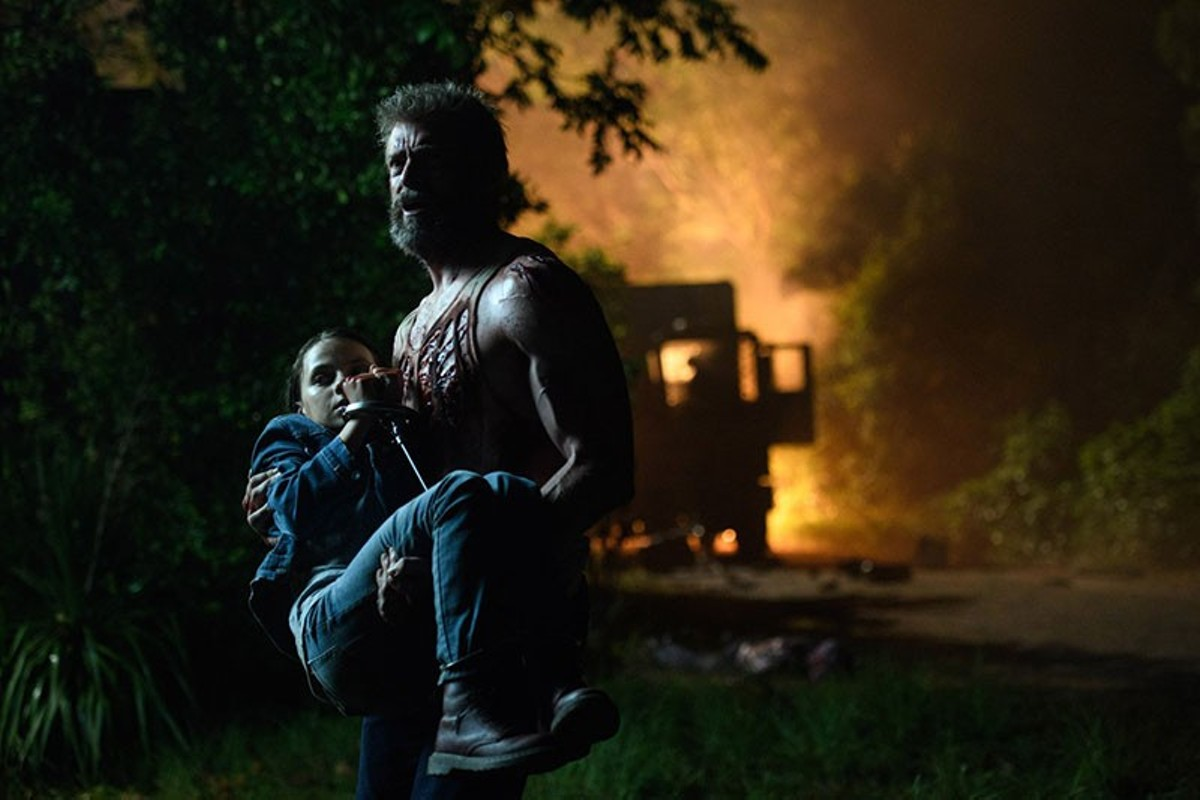 Logan and Laura (Hugh Jackman and Dafne Keen) carry the darkness with them.