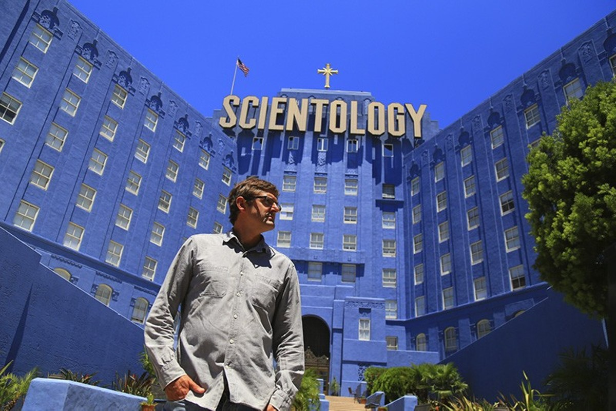 Louis Theroux gets this close to Scientology leadership, but no closer.