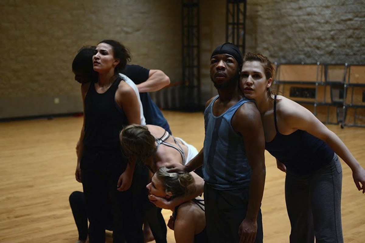 Dancers in rehearsal for Dirt, choreographed by Jennifer Archibald.