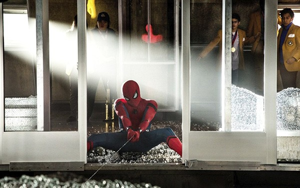 Spider-Man (Tom Holland) saves some people ... and his own film.