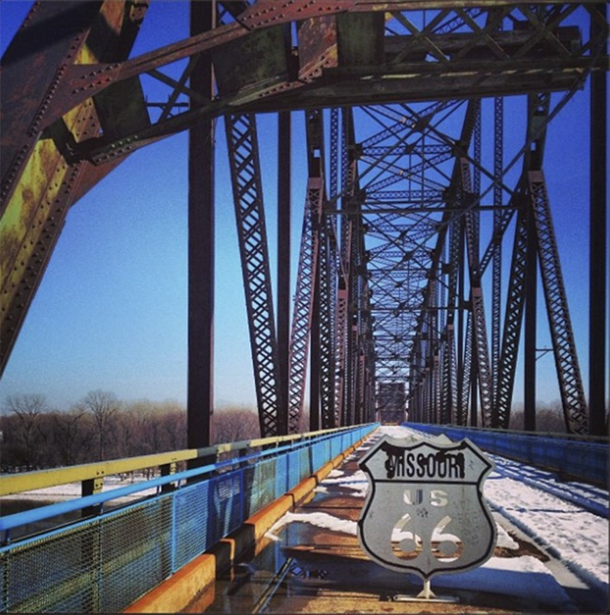 The Chain of Rocks Bridge: Always a thrill.