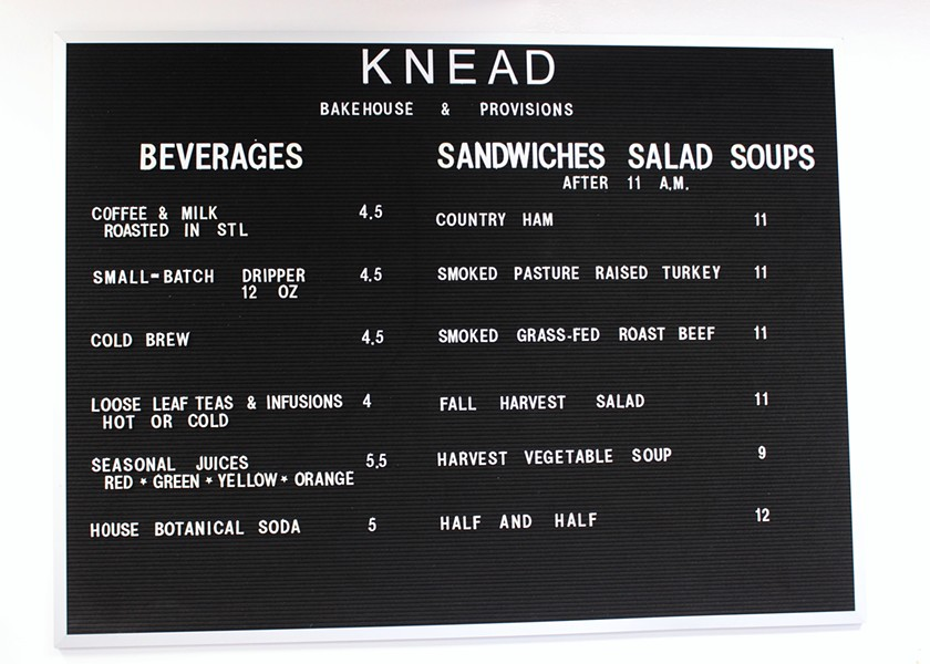 Knead has a small menu but plans to expand in the next six months. - PHOTO BY LAUREN MILFORD