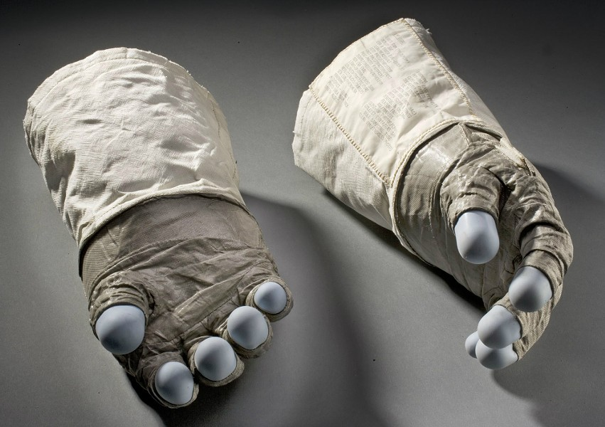 "Edwin ""Buzz"" Aldrin's gloves - PHOTO COURTESY OF THE ST. LOUIS SCIENCE CENTER"