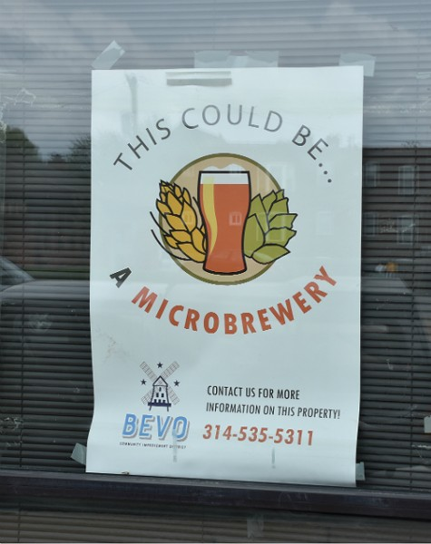 A Bevo marketing campaign imagined the building as a microbrewery. - DOYLE MURPHY