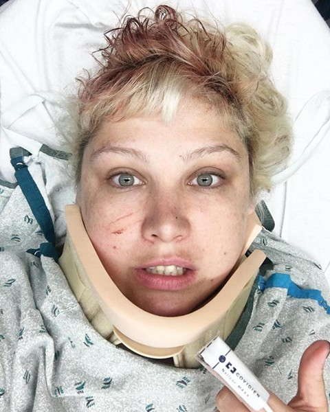Hospital selfie, the most dreaded of all selfies. - VIA MORGAN NUSBAUM
