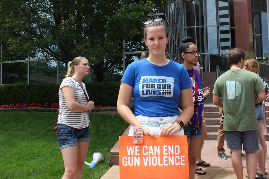 Lauren Malloy graduated from MICDS in May and is a March For Our Lives St. Louis organizer. - CAMILLE RESPESS
