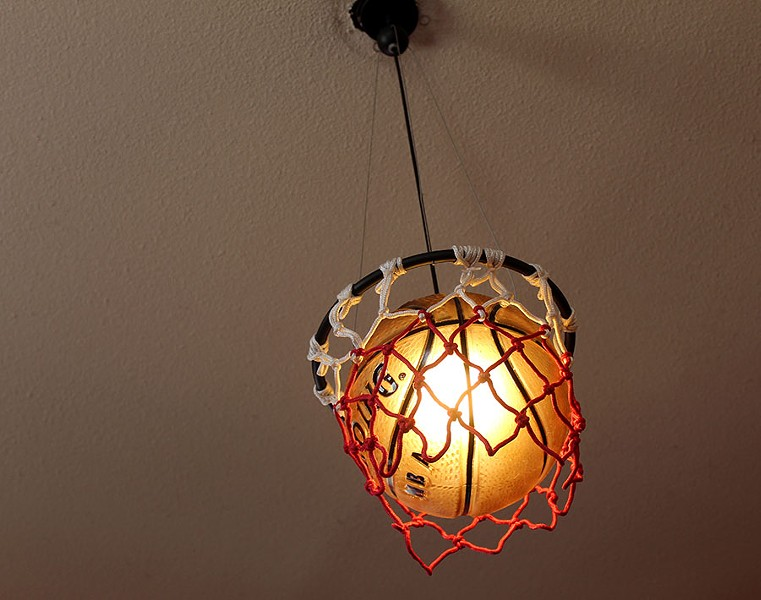 Basketball light fixtures add to the sports theme. - LEXIE MILLER