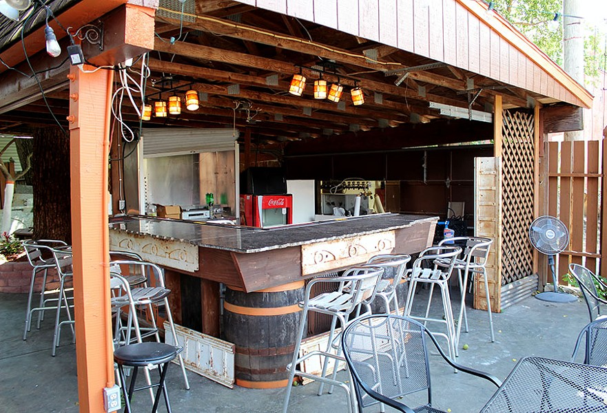 The back patio has its own bar and performance space. - LEXIE MILLER