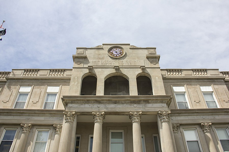 The St. Francois County courthouse is ground zero for the legal community's rumor mill. - DANNY WICENTOWSKI