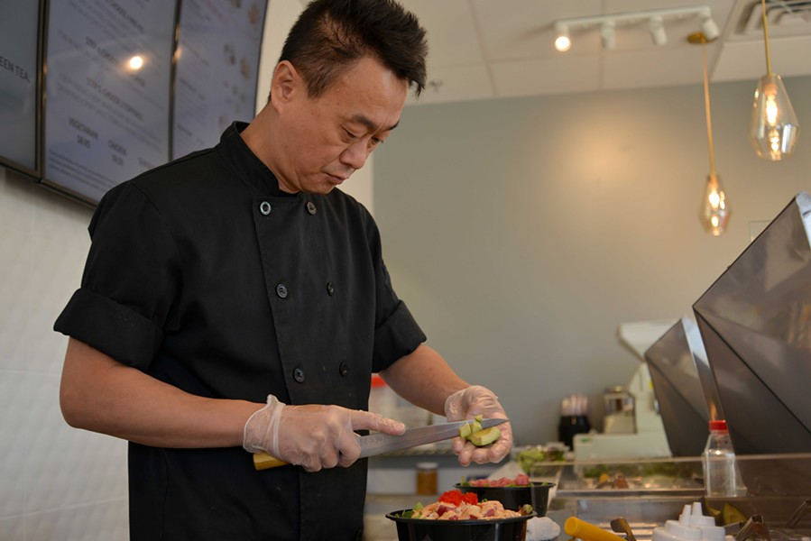 James Choi worked in sushi for 25 years before Hosseini convinced him to move from Chicago to St. Louis to be Poke Munch's chef. - TOM HELLAUER