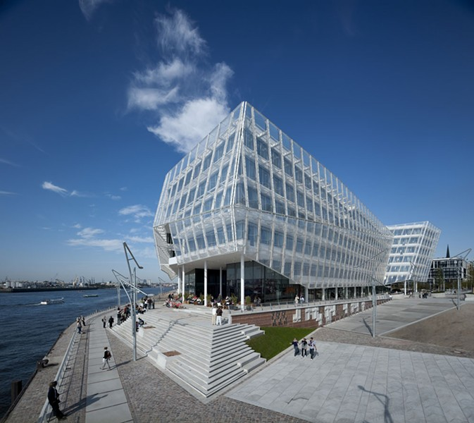Unilever headquarters - Hamburg - completed in 2009. - BEHNISCH