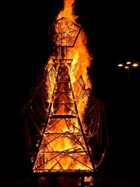 Our Lady of Artica burning