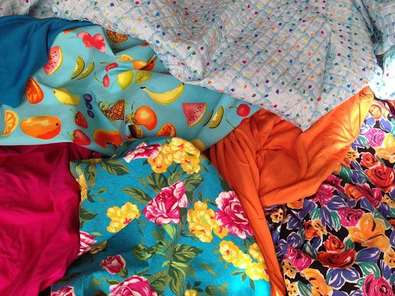 Fabrics from Los Angeles that are inspiring Jones' next designs. - DOROTHY JONES