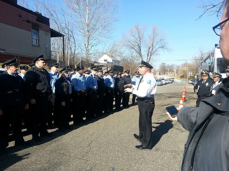 Sam Dotson, addressing police officers last month. - VIA FACEBOOK