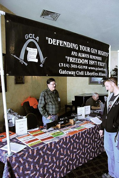 The Gateway Civil Liberties Alliance, a Second Amendment watchdog, was on hand with bumper stickers and a raffle. - PHOTO: MATT BLICKENSTAFF