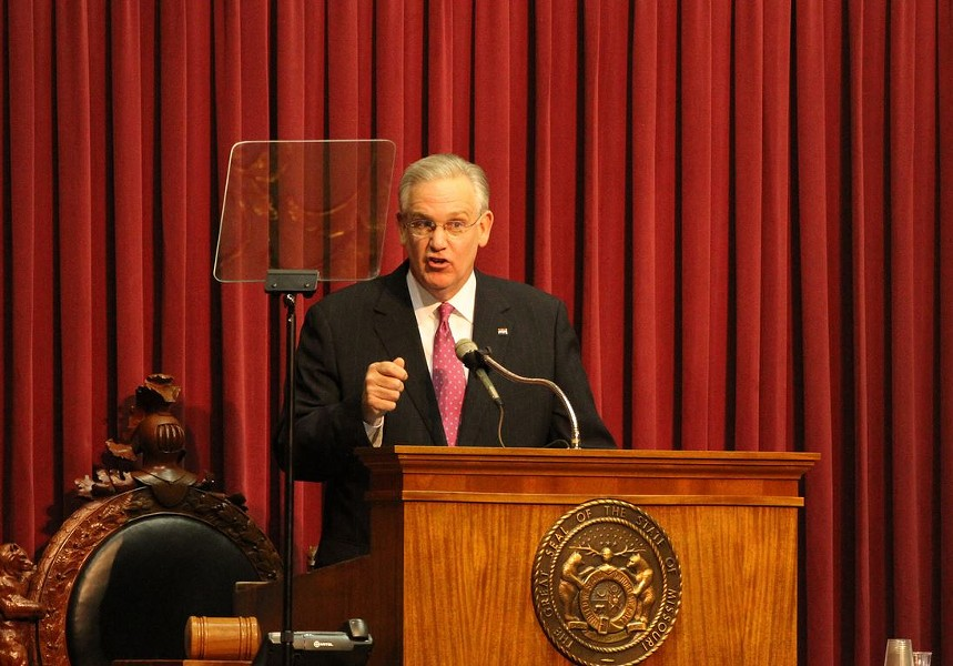 Gov. Nixon: Leading in the polls or according to polls? - PHOTO VIA
