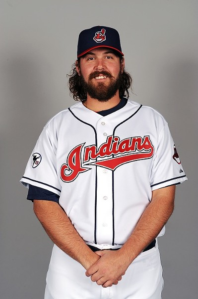 Former Cardinal Chris Perez, now making friends with the fans in Cleveland.