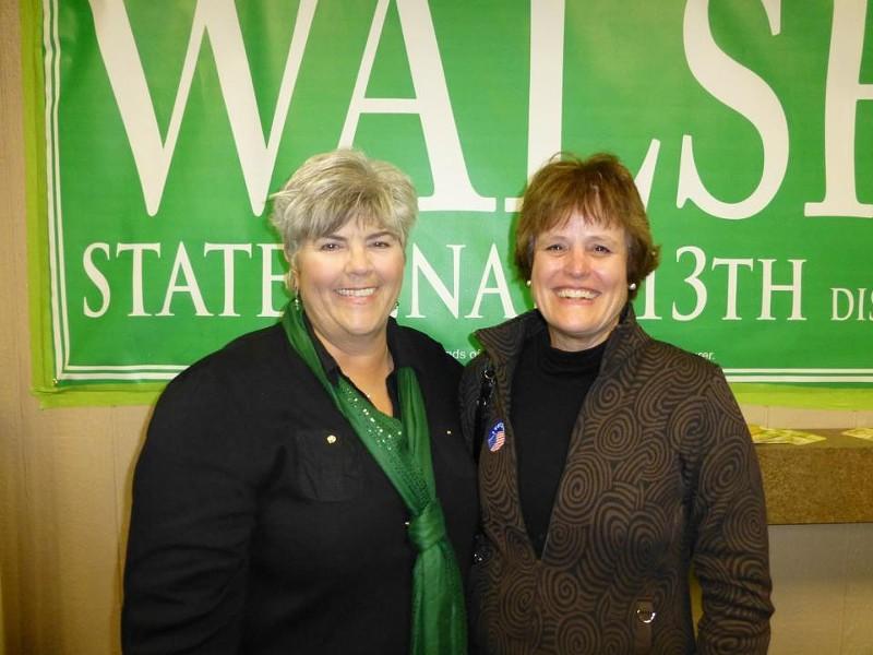 Gina Walsh, left. - VIA FACEBOOK