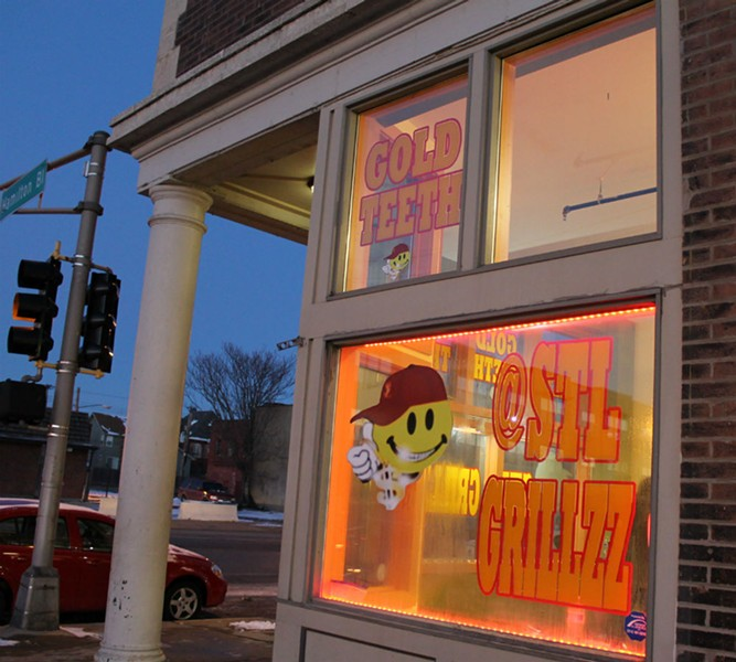 STL Grillzz storefront on Delmar Boulevard. - RAY DOWNS
