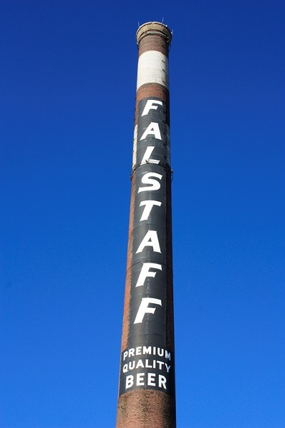 The Falstaff Logo on Plant No. 5 Smokestack